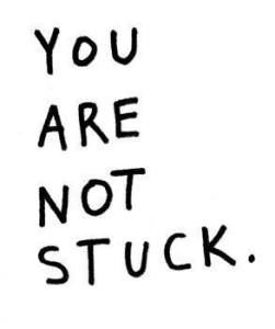 you are not stuck logo